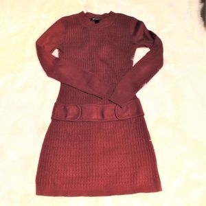 BCX Knit sweater long sleeve dress XS